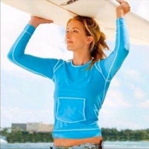 Athleta Summer Shade Rashguard long Sleeve Tee